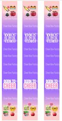 Born to Cheer Forced to go to School Keychain Sublimation Cheer Bow Graphic