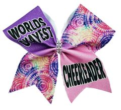 World Okayest Cheerleader Cheer Bow