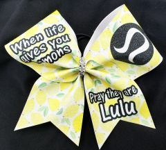 When Life Gives You Lemons Pray they are Lulu Cheer Bow