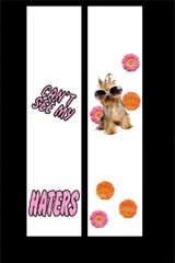 Can't See My Haters Cheer Bow Ready to Press Sublimation Graphic