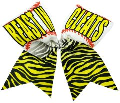 Beast in Cleats Cheer Bow
