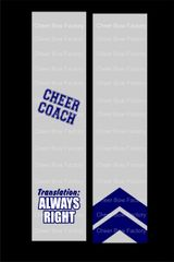 Cheer Coach Translation Cheer Bow Ready to Press Sublimation Graphic
