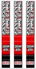 Dream Wish Believe Keychain Sublimation Cheer Bow Graphic