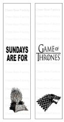 Sundays are for Game of Thrones Sublimation Cheer Bow Graphic