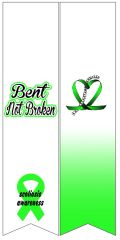 Bent Not Broken Scoliosis Awareness Ready to Press Sublimation Graphic