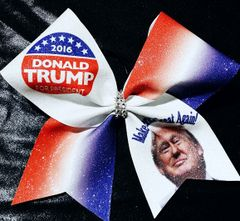 Donald Trump 2016 Glitter Cheer Bow