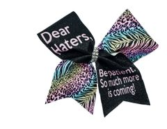 Dear Haters Be Patient. So much more is coming! Cheer Bow