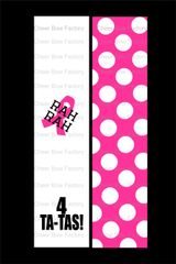 Rah Rah 4 Ta-Tas Breast Cancer Awareness Cheer Bow Ready to Press Sublimation Graphic