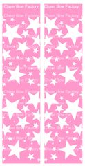 Stars Pink Cheer Bow Ready to Press Sublimation Graphic