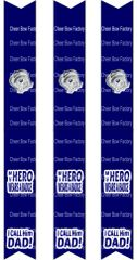 My Hero Wears a Badge I call him Dad Keychain Sublimation Cheer Bow Graphic