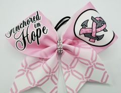 Anchored in Hope Ribbon Cheer Bow