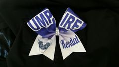 Umpire Softball Cheer Bow