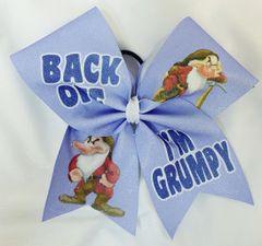 Back Off I'm Grumpy Cheer Bow