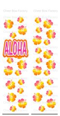 Aloha Ombre Hibiscus Ready to Press Sublimation Graphic