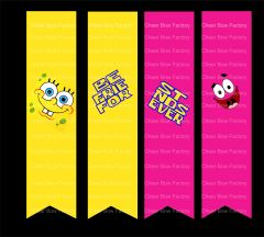 Spongebob Patrick Best Friends (2 Bows) Cheer Bow Ready to Press Sublimation Graphic