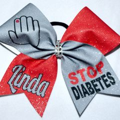 Stop Diabetes Cheer Bow