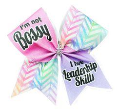 I'm Not Bossy I Have Leadership Skills Cheer Bow