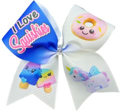 I Love Squishies Cheer Bow