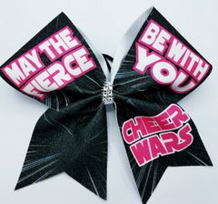 Cheer Wars May The Fierce Be With You Glitter Cheer Bow