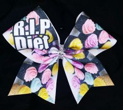 R.I.P DIET Cupcake Cheer Bow