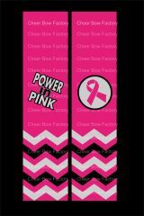 Power In Pink Breast Cancer Awareness Cheer Bow Ready to Press Sublimation Graphic