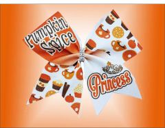 Pumpkin Spice Princess Glitter Cheer Bow