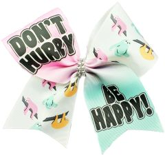 Don't Hurry Be Happy Sloth Cheer Bow