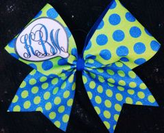 Monogram Dot Cheer Bow