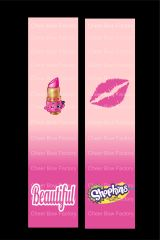 Shopkins Lipstick Cheer Bow Ready to Press Sublimation Graphic