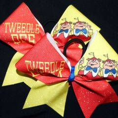 Tweedle Dee & Tweedle Dum Cheer Bows