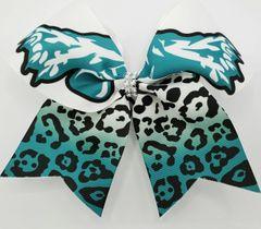 Jaguar Ribbon Cheer Bow