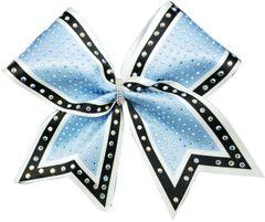The Molly Columbia Blue White Black Rhinestone Cheer Bow