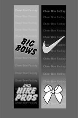 Big Bows & Nike Pros Cheer Bow Ready to Press Sublimation Graphic
