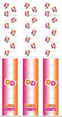 Dunkin Donuts Keychain Sublimation Cheer Bow Graphic