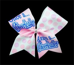 Once a Cheerleader Always a Cheerleader Cheer Bow