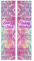 Born in Glitter Cheer Bow Ready to Press Sublimation Graphic