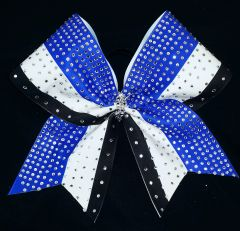 Rhinestone Triple Cheer Bow