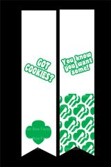 Got Cookies? Girl Scout Cheer Bow Ready to Press Sublimation Graphic
