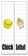 Softball Chick Cheer Bow Ready to Press Sublimation Graphic