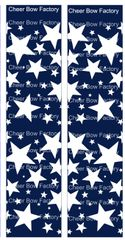 Stars Navy Cheer Bow Ready to Press Sublimation Graphic