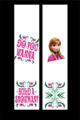 Frozen Do You Wanna Build A Snowman Cheer Bow Ready to Press Sublimation Graphic