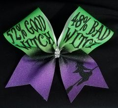 52% Good Witch 48% Bad Witch Glitter Cheer Bow