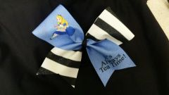 Alice In Wonderland Tea Cheer Bow