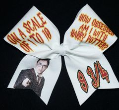 Obsessed with Harry Potter Cheer Bow