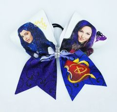 Descendants Glitter Cheer Bow