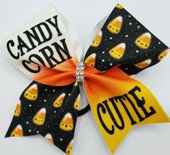 Candy Corn Cutie Glitter Vinyl Bows