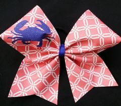 Preppy Crab Cheer Bow