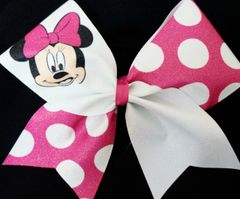 Minnie Mouse Pink Cheer Bow