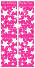 Stars Hot Pink Cheer Bow Ready to Press Sublimation Graphic