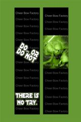 Yoda Do Or Do Not Cheer Bow Ready to Press Sublimation Graphic